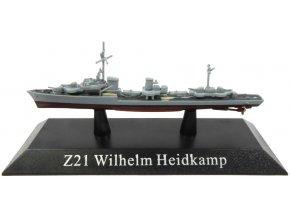 De Agostini - torpédoborec Z21 Wilhelm Heidkamp, 1943, 1/1250
