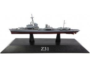 De Agostini - torpédoborec Z31, 1942, 1/1250
