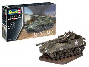 Revell - M40 G.M.C., Plastic ModelKit 03280, 1/76