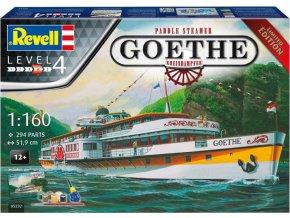 Revell - parník Paddle Steamer Goethe, Gift-Set 05232, 1/160