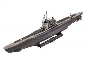 Revell - U-Boot Type VII C/41, Kriegsmarine, ModelSet 65154, 1/350