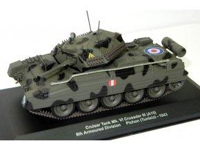 Atlas Models - Cruiser Mk VI A Crusader III, 6.obrněná divize, Tunis, 1943, 1/43
