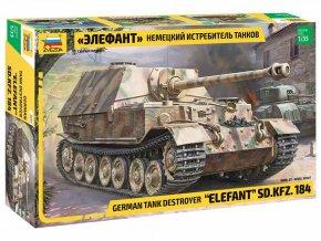 Zvezda - Sd.Kfz.184 Elefant, Model Kit 3659, 1/35