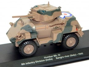 Eaglemoss - Humber Mk.IV, britská armáda, 8th Infantry Divison, Itálie, 1943, 1/43