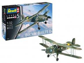 Revell - Bücker Bü131 Jungmann, Plastic ModelKit 03886, 1/32