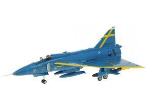 Aviation 72 - Saab Viggen J37, švédské vzdušné síly, F16-32 Blue Peter Uppsala, 1/72