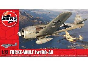 Airfix - Focke-Wulf Fw 190A-8, Luftwaffe, Classic Kit A01020A, 1/72