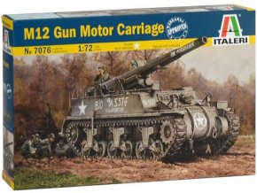 Italeri - M12 Gun Motor Carriage, Model Kit 7076, 1/72