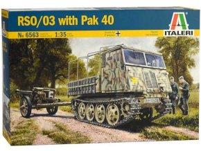 Italeri - RSO/03 s dělem PAK 40, Model Kit 6563, 1/35