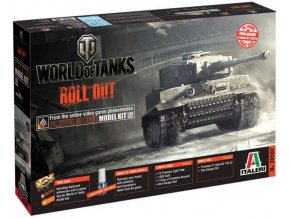 Italeri - Pz.Kpfw.VI Tiger I, Model Kit World of Tanks 36502, 1/35