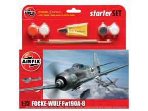 Airfix - Focke Wulf Fw190A-8, Luftwaffe, Starter Set A55110, 1/72