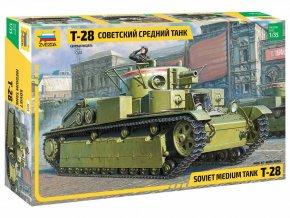 Zvezda - T-28, sovětská armáda, Model Kit 3694, 1/35