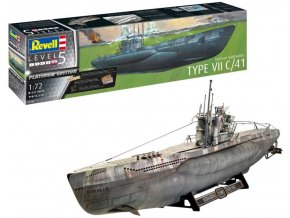 Revell - ponorka Type VII C/41 (Platinum Edition), Plastic ModelKit Limited Edition 05163, 1/72