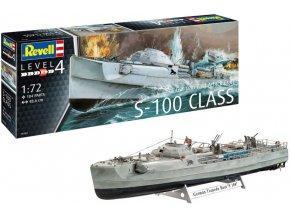 Revell - Schnellboot S-100, Kriegsmarine, Plastic ModelKit 05162, 1/72