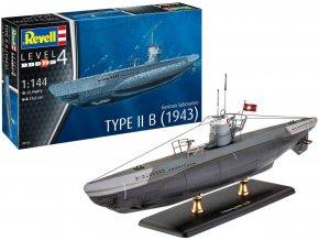 Revell - ponorka Type IIB, Kriegsmarine, 1943, ModelSet 65155, 1/144
