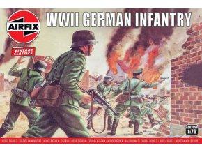 Airfix - figurky německá pěchota, druhá světová válka, Classic Kit VINTAGE A00705V, 1/76