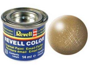 Revell - Barva emailová 14ml - č. 92 metalická mosazná (brass metallic), 32192
