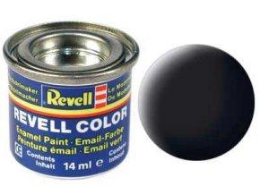 Revell - Barva emailová 14ml - matná černá (black mat), 32108
