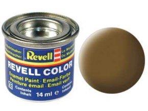 Revell - Barva emailová 14ml - č. 87 matná zemitě hnědá (earth brown mat), 32187