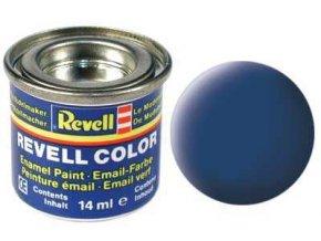 Revell - Barva emailová 14ml - matná modrá (blue mat), 32156