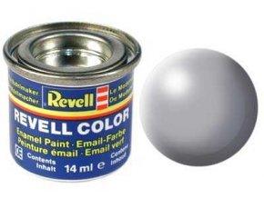 Revell - Barva emailová 14ml - č. 374 hedvábná šedá (grey silk), 32374