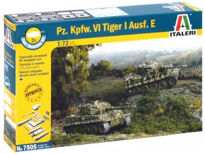 Italeri - Pz.Kpfw.VI Ausf.E Tiger I, Fast Assembly 7505, 1/72