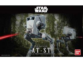 Revell - Star Wars - AT-ST, Plastic ModelKit BANDAI SW 01202, 1/48
