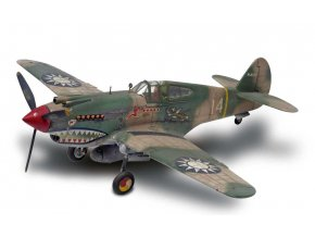 Revell -  Curtiss P-40B Warhawk, Tiger Shark, Plastic ModelKit MONOGRAM 5209, 1/48