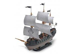 Revell - pirátská loď Black Diamond, Snap Kit MONOGRAM 1971, 1/350