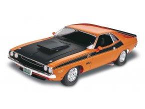Revell - 70 Dodge Challenger 2 'n 1, Plastic ModelKit MONOGRAM 2596, 1/24