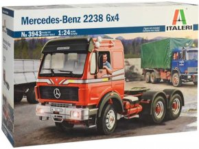 Italeri - Mercedes-Benz 2238 6x4, Model Kit 3943, 1/24