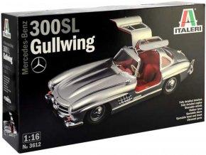 Italeri - Mercedes-Benz 300 SL Gullwing, Model Kit 3612, 1/16