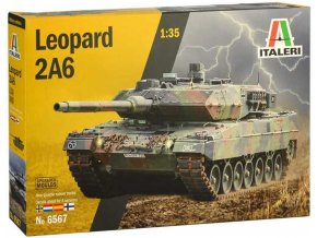 Italeri - Leopard 2A6, Model Kit 6567, 1/35