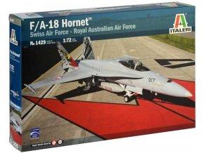 Italeri - McDonnell Douglas F/A-18 Hornet, švýcarské letectvo / RAAF, Model Kit 1429, 1/72