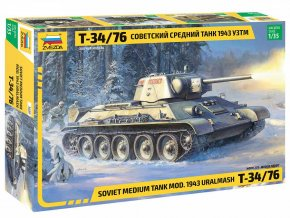 Zvezda - T-34/76 mod.1943, Uralmash, Model Kit 3689, 1/35