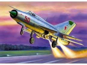 """Zvezda - Mikojan-Gurevič MiG-21PFM """"Phantom Killer"""", Model Kit 7202, 1/72"""