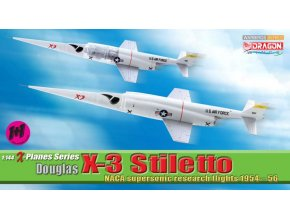 Dragon - Douglas X-3 Stiletto, NACA/USAF, Edwards AFB, set 2 modelů, 1/144