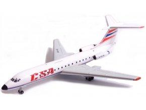 38957 1 herpa tupolev tu 134a spolecnost czech airlines csa 1990s colors ceska republika 1 500