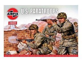 Airfix - figurky US výsadkáři, Classic Kit VINTAGE A00751V, 1/76