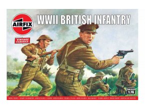 Airfix - figurky britská pěchota, Classic Kit VINTAGE A00763V, 1/76