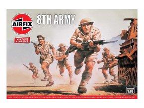 Airfix - figurky britská 8. armáda, Classic Kit VINTAGE A00709V, 1/76