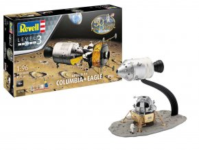 Revell - Apollo 11 Columbia & lunární modul Eagle, 50 Years Moon Landing, Gift-Set 03700, 1/96