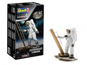 Revell - Apollo 11 Astronaut na měsíci, 50 Years Moon Landing, Gift-Set 03702, 1/8
