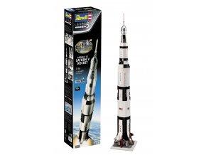 Revell - vícestupňová nosná raketa Saturn V - Apollo 11, 50 Years Moon Landing, Gift-Set 03704, 1/96