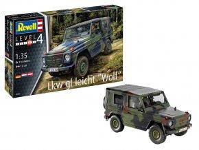 Revell - Mercedes-Benz 250 GD Wolf / LKW leicht gl Wolf, Bundeswehr, Plastic ModelKit 03277, 1/35
