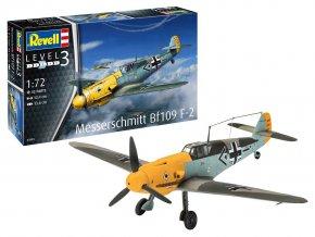 Revell - Messerschmitt Bf 109 F-2, Luftwaffe, ModelSet 63893, 1/72