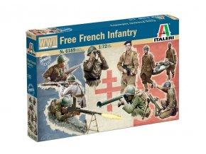 Italeri - figurky vojáků svobodné francie, druhá světová válka, Model Kit 6189, 1/72