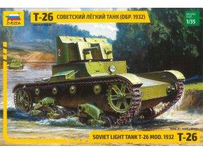 Zvezda - T-26, sovětský tank, Model Kit 3542, 1/35