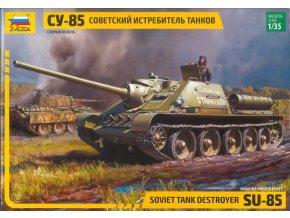 Zvezda - SU-85, sovětské samohybné dělo, Model Kit 3690, 1/35