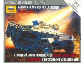 Zvezda - Sd.Kfz.251/1 Ausf.B ″Stuka zu Fuß″, Snap Kit 6243, 1/100
